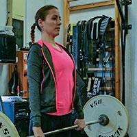 Sarkadi Gréta cross-training edzésen